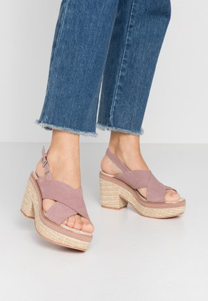 VIEQUES - Sandály na vysokém podpatku - pink