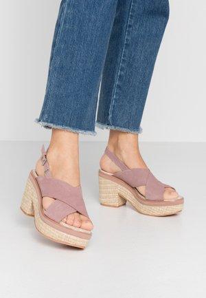 VIEQUES - Sandalen met hoge hak - pink