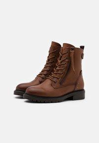 Carmela - LADIES  - Cowboy/biker ankle boot - camel - 2