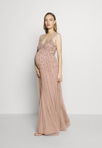 Maya Deluxe Maternity - CLUSTER SEQUIN EMBELLISHED DRESS - Vestido de fiesta - taupe blush - 1