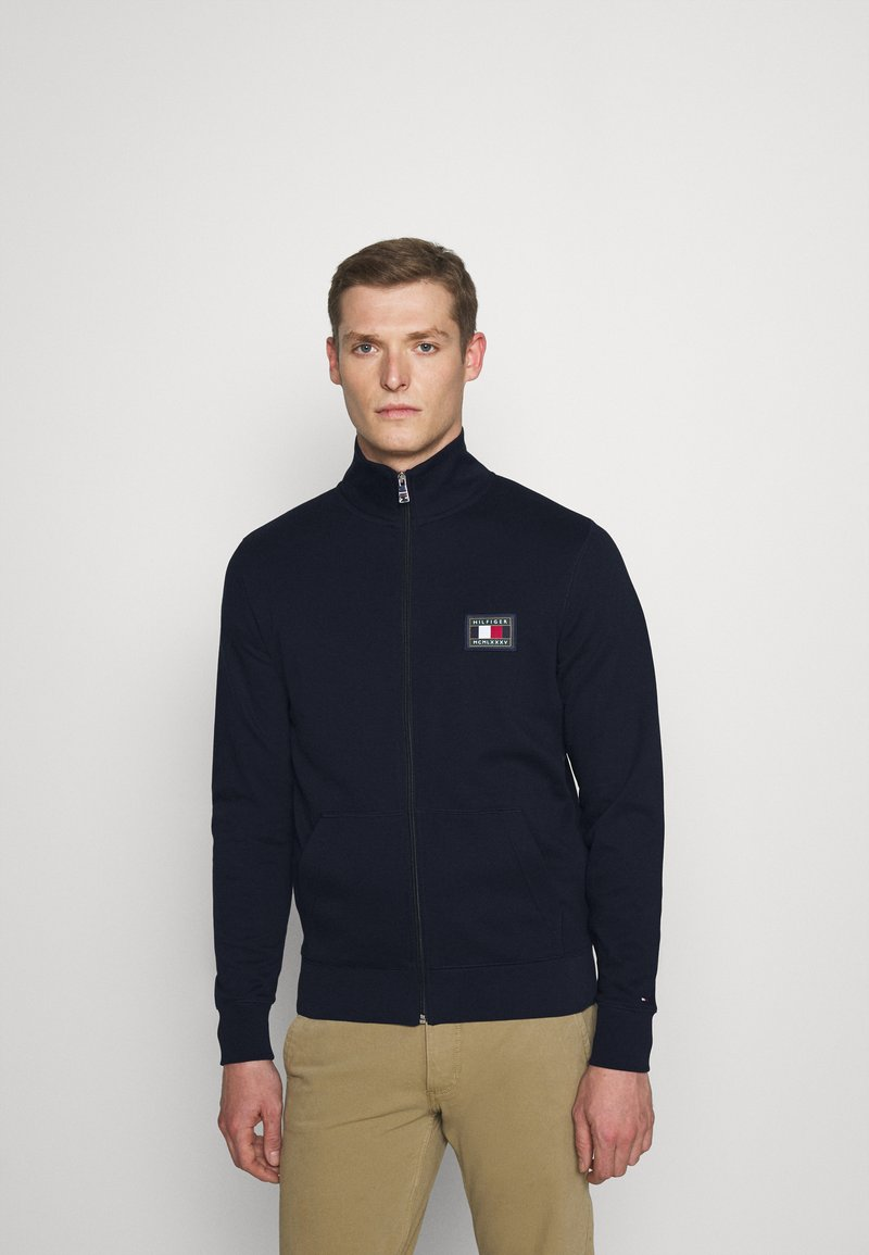 Tommy Hilfiger - ICON ESSENTIALS ZIP THROUGH - Cardigan - blue