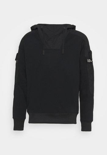 MIXED CARGO HOODED - Sweatshirt - dark black