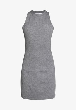 LOGO ELASTIC FITTED MILANO DRESS - Jersey dress - mid grey heather