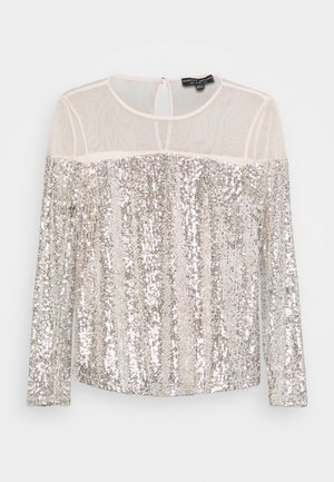 INSERT SEQUIN LONG SLEEVE - Bluser - champagne