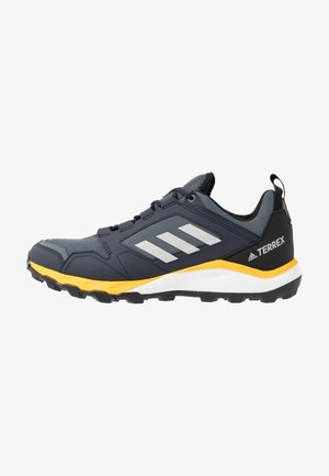 TERREX AGRAVIC TRAIL RUNNING SHOES - Zapatillas de trail running - onix/grey two/active gold