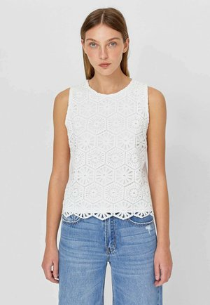 GUIPURE - Blouse - white