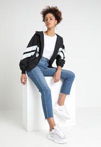 Urban Classics - CRINKLE BATWING  - Outdoor jacket - black/white - 2