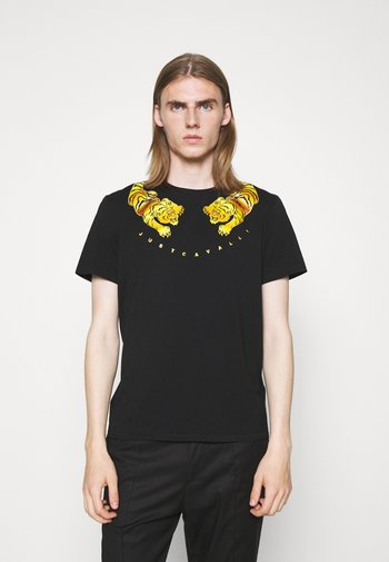 EXCLUSIVE - T-shirt con stampa - black