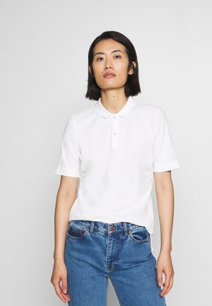 SHORT SLEEVE FLAT COLLA - Polo shirt - oyster white