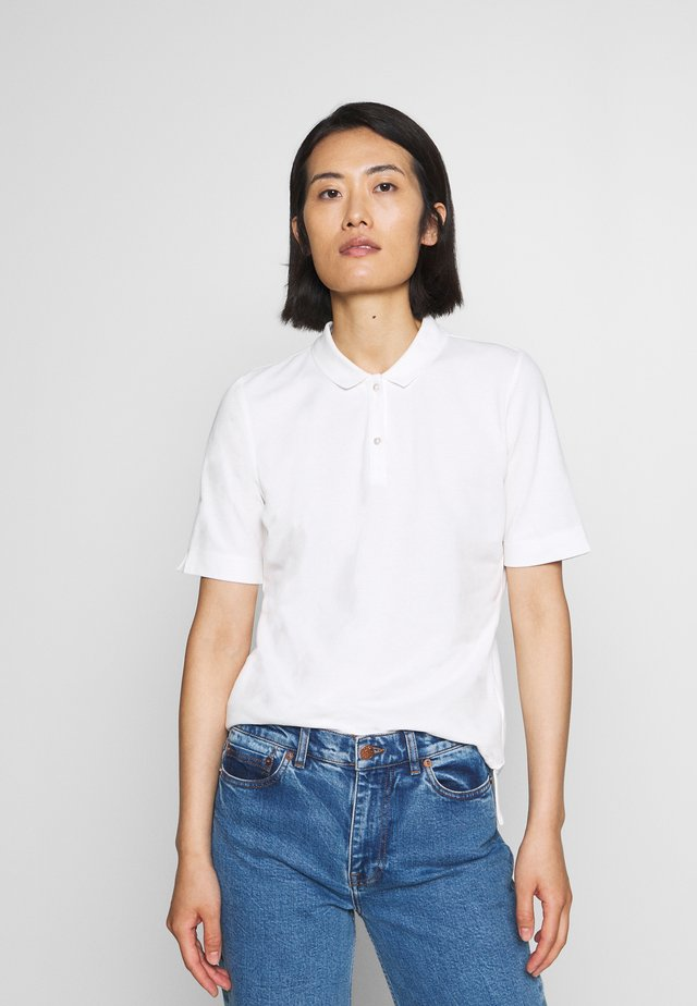 SHORT SLEEVE FLAT COLLA - Polo - oyster white