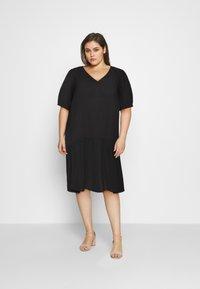 Zizzi - MJANICA KNEE DRESS - Day dress - black - 0