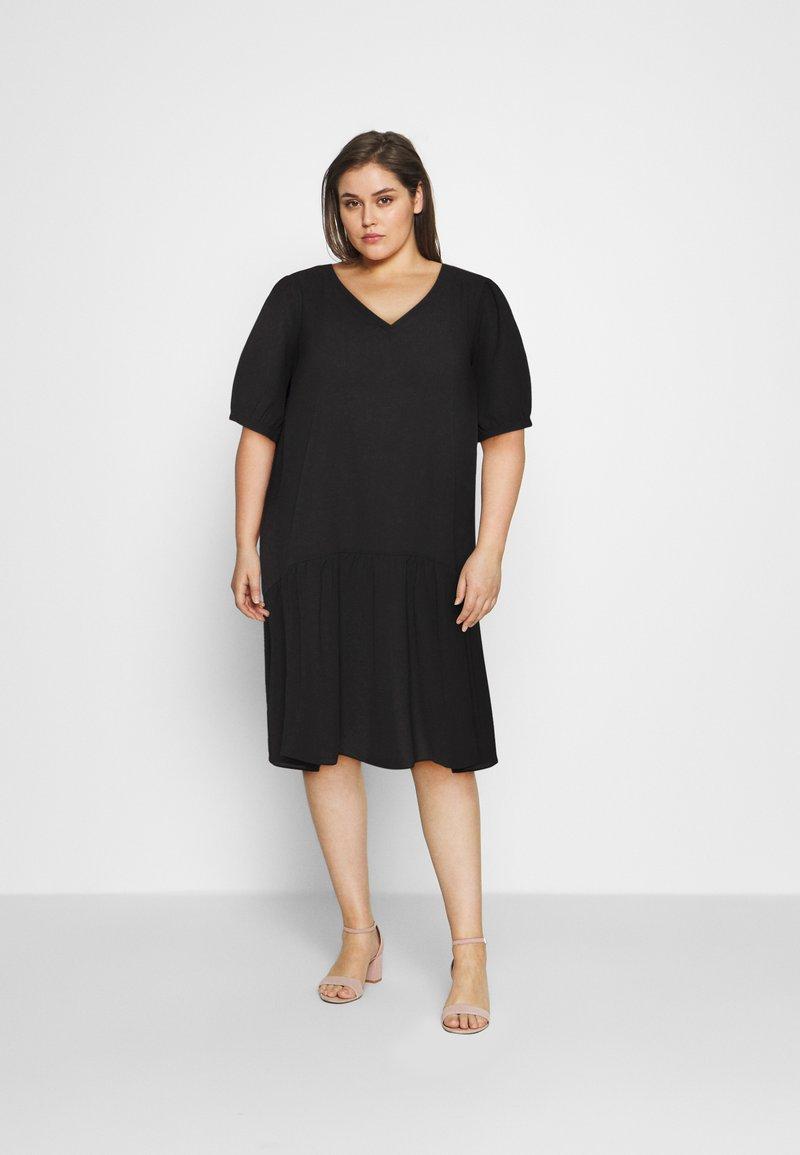 Zizzi - MJANICA KNEE DRESS - Day dress - black