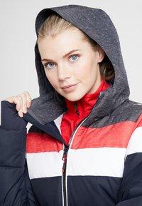 CMP - WOMAN JACKET ZIP HOOD - Kurtka narciarska - black/blue - 11