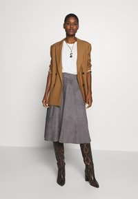 Esprit Collection - LINE SKIRT - A-line skirt - taupe - 1