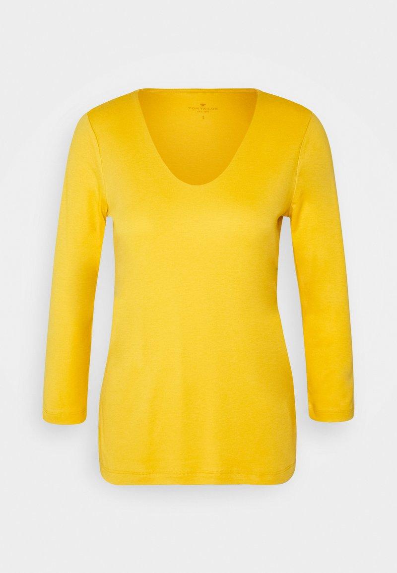 TOM TAILOR - DOUBLE FRONT - Top sdlouhým rukávem - california sand yellow