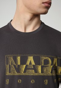Napapijri - SALLAR LOGO - T-shirt print - dark grey solid - 2