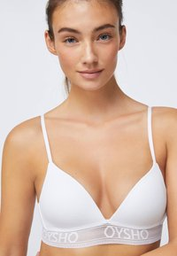 OYSHO - Triangle bra - white - 4