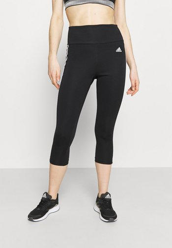 3/4 sportovní kalhoty - black/white