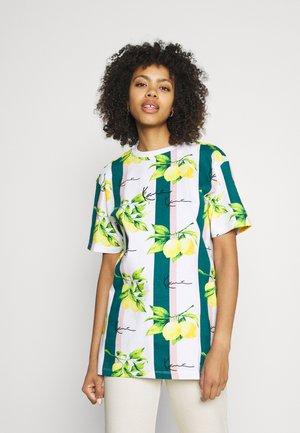 SMALL SIGNATURE TEE  - T-shirt basic - white