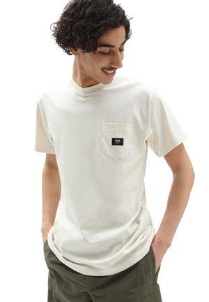 MN WOVEN PATCH POCKET M - Print T-shirt - antique white