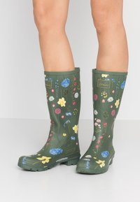 Tom Joule - ROLL UP WELLY - Stivali di gomma - green - 0