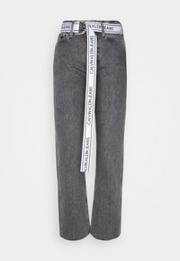 Calvin Klein Jeans - HIGH RISE STRAIGHT ANKLE - Jeans Straight Leg - grey denim - 3