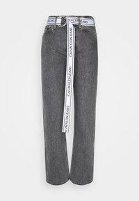 HIGH RISE STRAIGHT ANKLE - Straight leg jeans - grey denim