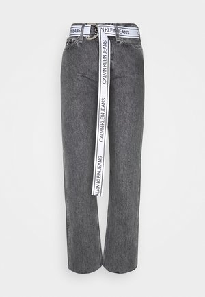 HIGH RISE STRAIGHT ANKLE - Jeans Straight Leg - grey denim