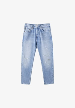 Jeans straight leg - stone blue denim