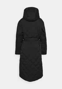 Missguided - HOODED DIAMOND QUILTED COAT - Classic coat - black - 1