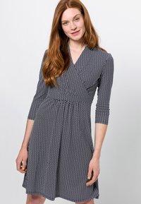 zero - MIT WELLENPRINT - Jersey dress - dark blue - 0