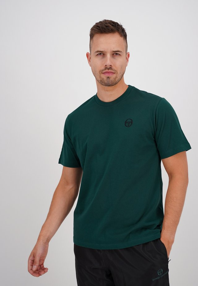 SERGIO - Basic T-shirt - botnic/blk