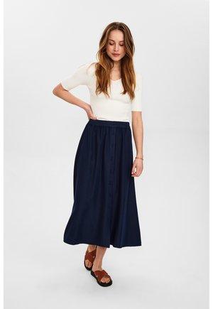 NUBROOKLYN SKIRT - Maxi skirt - dark blue
