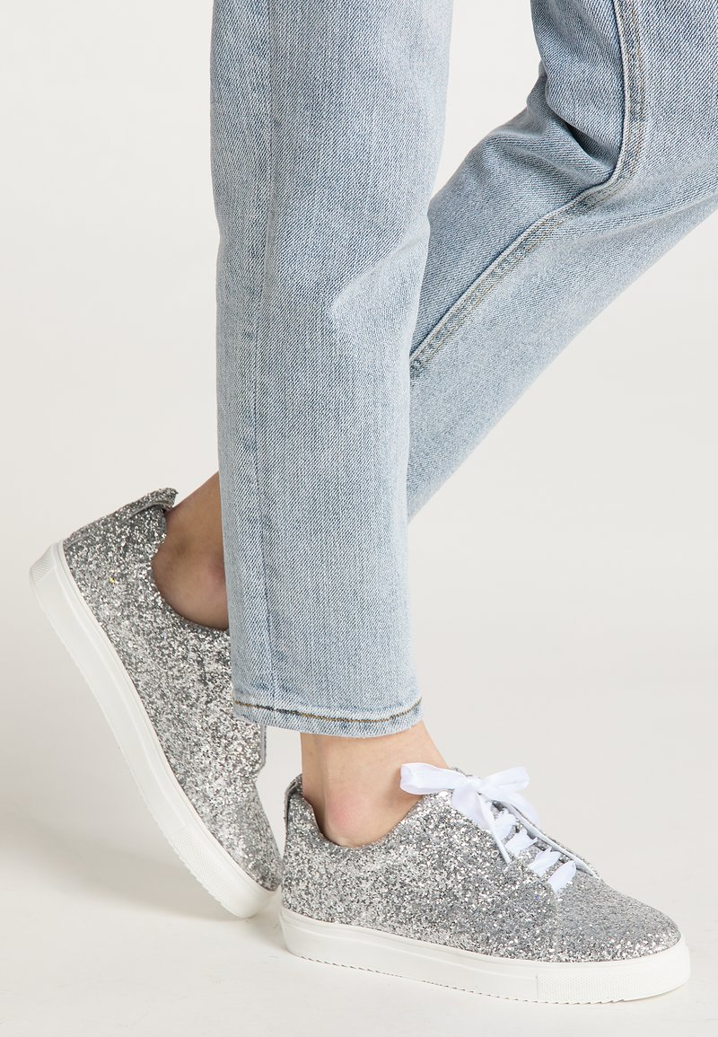myMo at night - Sneakers laag - silver glitter