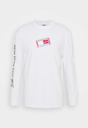 SMALL FLAG BOX LOGO TEE UNISEX - Langærmede T-shirts - white
