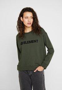 Element - LOGO CREW - Sweatshirt - olive drab - 0