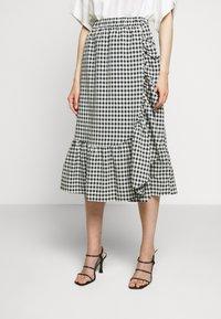 Bruuns Bazaar - SEER JESSIE SKIRT - Áčková sukně - black/white - 0