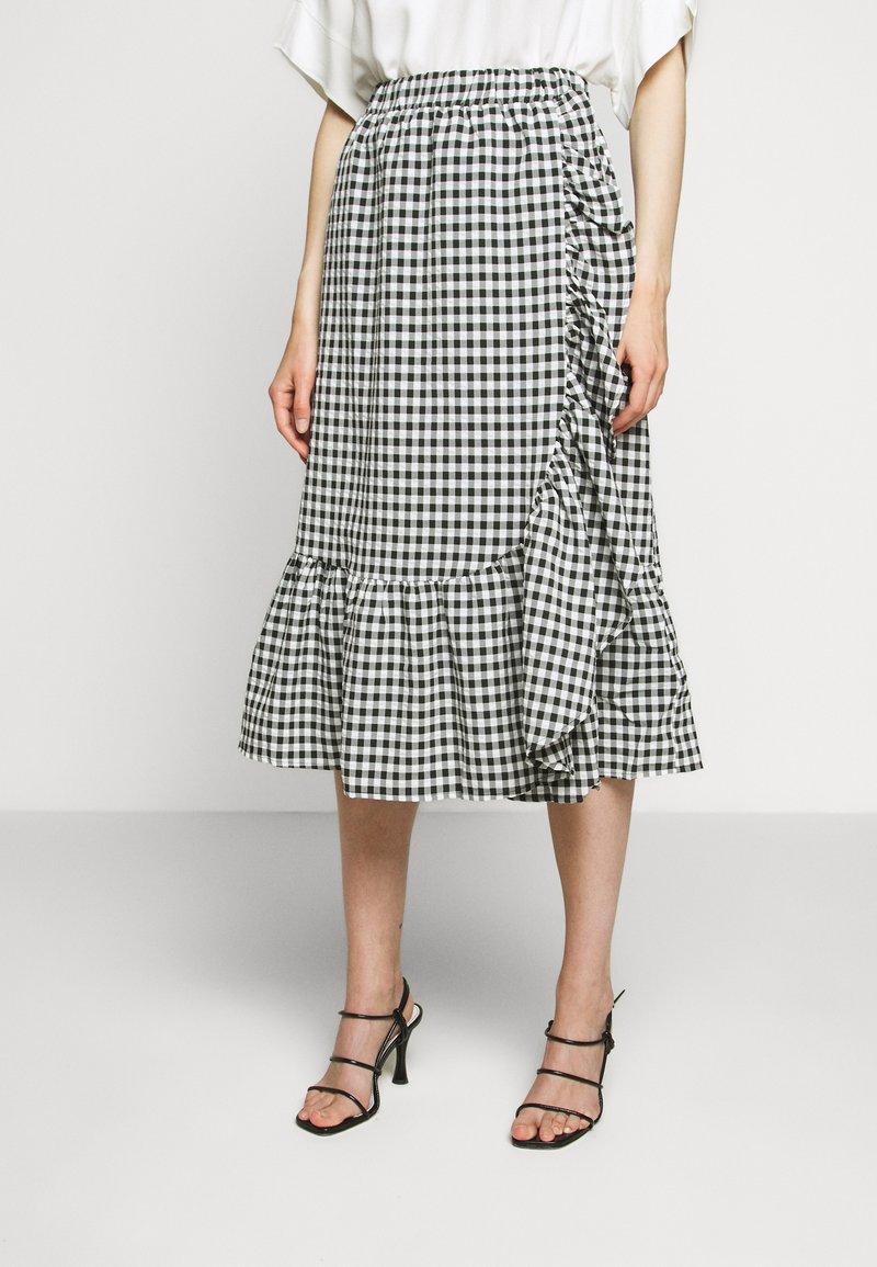 Bruuns Bazaar - SEER JESSIE SKIRT - Áčková sukně - black/white