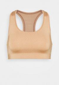 Casall - ICONIC SPORTS BRA - Medium support sports bra - clean beige - 3