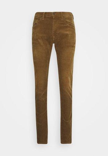 Straight leg jeans - cognac