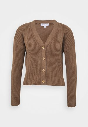 CROPPED CARDIGAN - Cardigan - brown