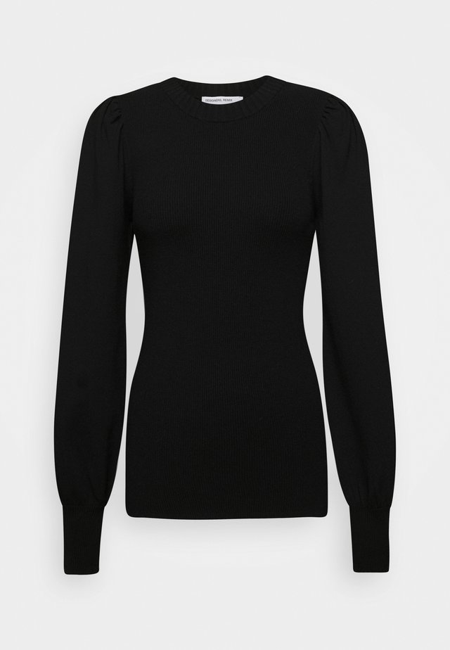 MANDY PUFF SLEEVE - Neule - black