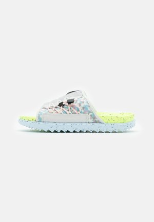 ASUNA CRATER SLIDE - Mules - platinum tint/black/volt/chambray blue/bright crimson