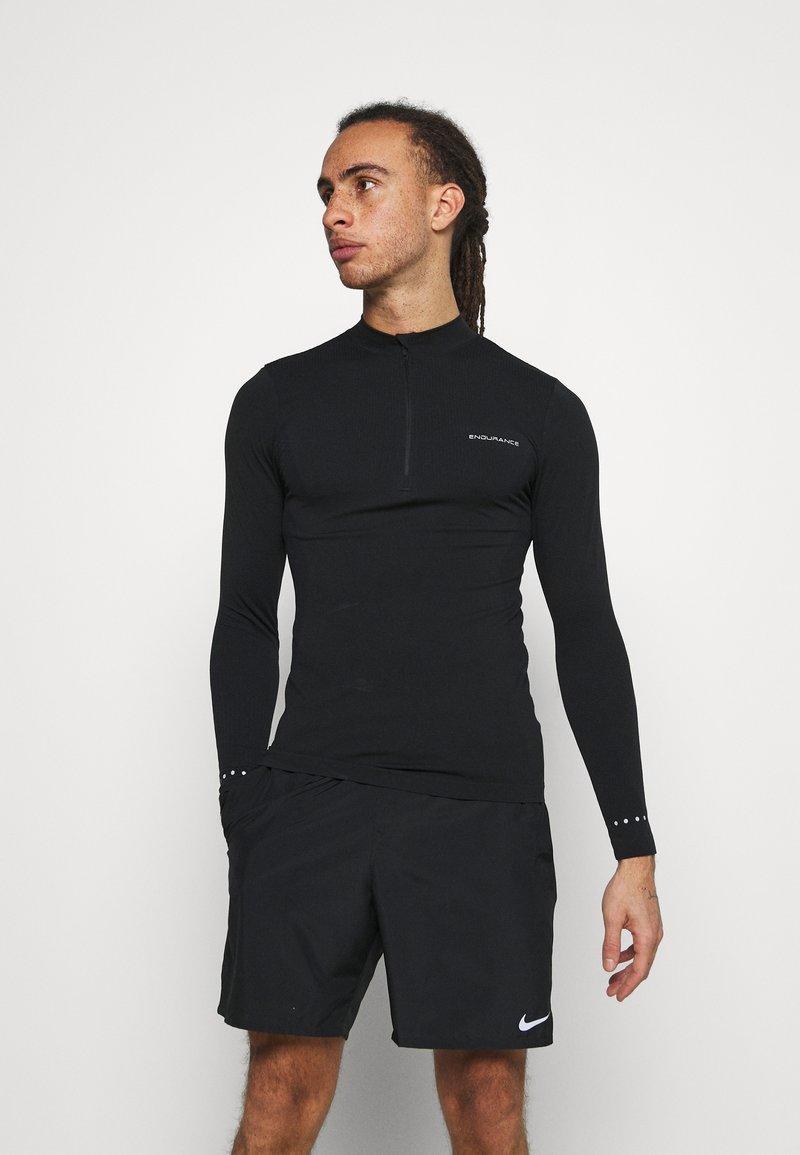 Endurance - JARO SEAMLESS MIDLAYER - T-shirt à manches longues - dark grey melange