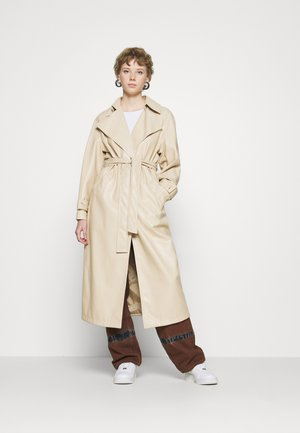 PU TRENCH COAT - Trenchcoat - cream