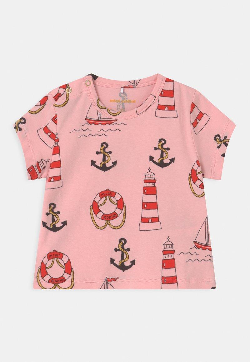 Mini Rodini - LIGHTHOUSE TEE - Print T-shirt - pink