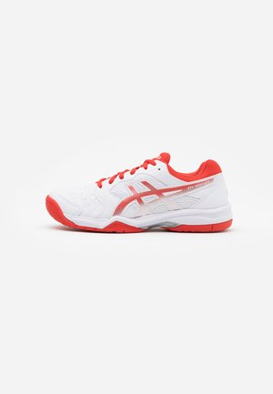 GEL-DEDICATE 6 - Multicourt tennis shoes - white/fiery red