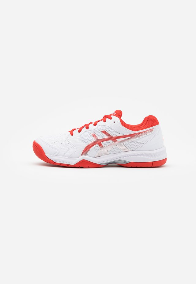 GEL-DEDICATE 6 - Scarpe da tennis per tutte le superfici - white/fiery red