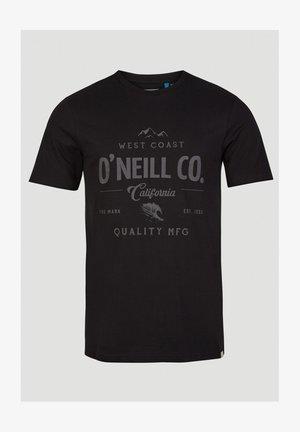 W-COAST - Print T-shirt - black out