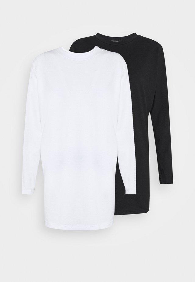 BASIC DRESS 2 PACK - Žerzejové šaty - white